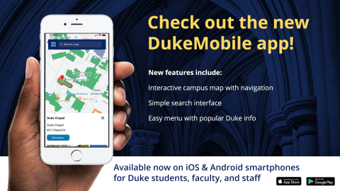 DukeMobile update announcement 2018