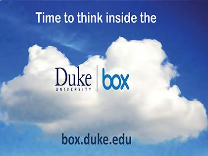 Picture of a cloud with Duke Box branding inside