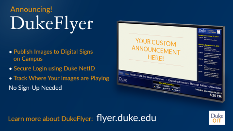 Dukeflyer signage example