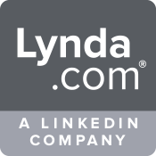Black and White Lynda.com logo
