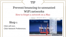 Forget network, wifi, pc, mac tips