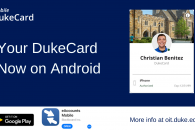 Mobile DukeCard for Android digital sign