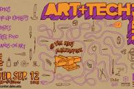Poster promoting OIT & Ruby Art + Tech Fair