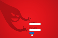 Cybersecurity image of predator and login screen