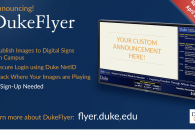 DukeFlyer screen capture