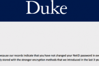screen cap of netid password change email