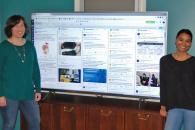 Duke staff display social media campaign on screen during LearnIT@Lunch
