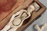 Image of ivory teaching doll for ancient medical research