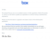 update notification message from box