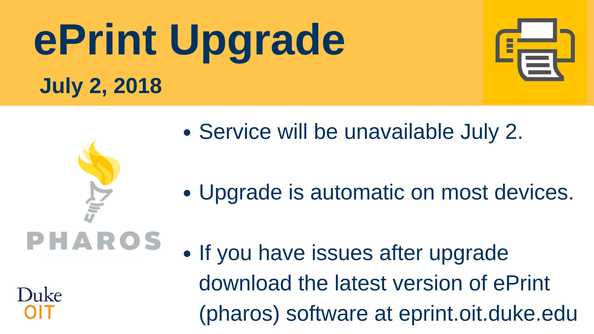 Poster announcing eprint update July 2